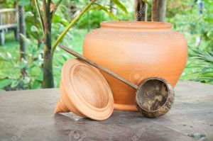 Thai Water Jar and Coconut Dipper